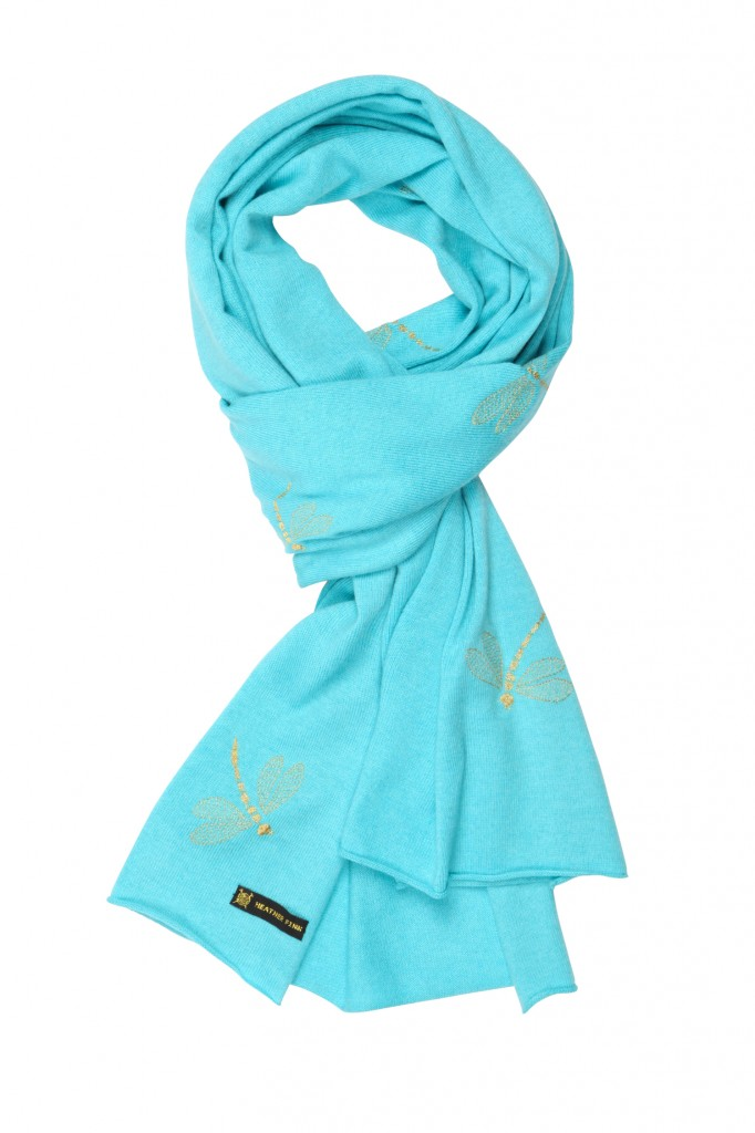 Heather Finn - Turquoise Dragonfly Wrap - High Res