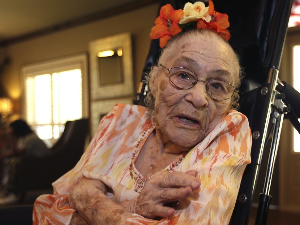 116 years old - Gertrude Weaver (b. July 4, 1898), American