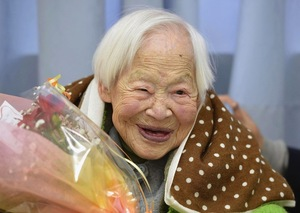 116 years old (World's Oldest Living Person) - Misao Okawa (b. March 5, 1898), Japanese