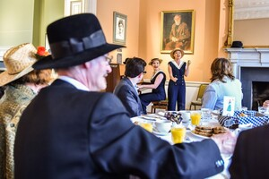Scenes from the Bloomsday breakfast in The James Joyce Centre, Dublin