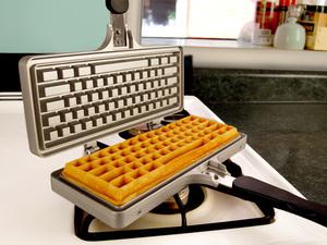Keyboard-Waffle-Iron-Open