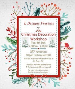 christmas decoration class for flyers and poster