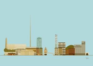 donal-mangan-print-dublin-skyline-town