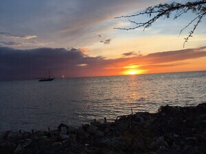 sunset-on-la-gonave-after-long-day-distributing-aid