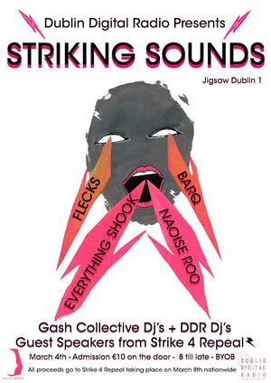 Dublin Digital Radio Presents - Striking Sounds(Poster)