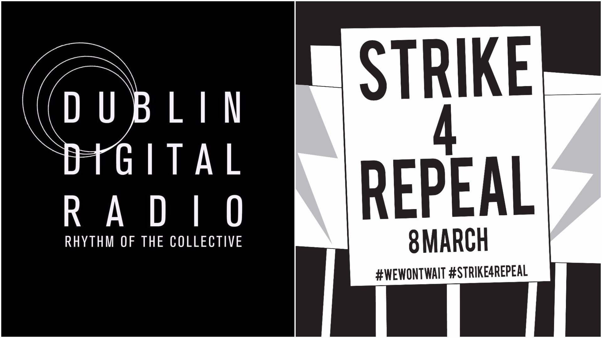 Dudlin Digital Radio & Strike 4 Repeal logos