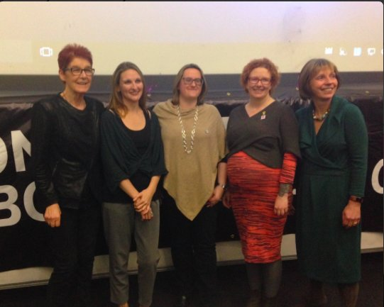 Speakers from l-r Ailbhe Smyth, Dr Leah Desmond, Fiona de Londres, Emma Campbell and Ann Furedi