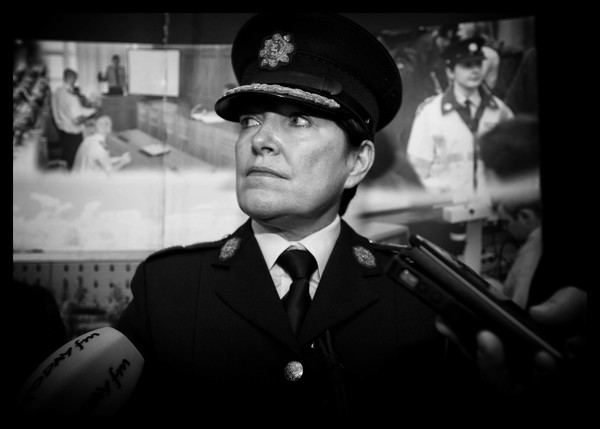 File photo. Garda Whistle Blower Story. The Government is in its most serious crisis since its formation, over the treatment of garda whistleblower Maurice McCabe and his family. As the story unfolds, it is dragging more and more politicians, ministers and institutions into its web of deceit. It is now possible that the Government could fall before the Commission of Inquiry gets off the ground. Prominent whistleblower, Sgt Maurice McCabe has claimed he was targeted in a smear campaign by senior members of the Garda. He is supported in his claims by the former head of the Garda Press Office, Superintentent David Taylor. End. 15/9/2014. Under Pressure. Garda Interim Commissioner Noirin O'Sullivan, under pressure as she responds to media questions regarding the latest claims by garda whistle blower SGt Maurice McCabe that there have been furter garda abuses of the penalty points system. They were speaking as the minister arrived at the Garda College in Templemore in County Tipperary to meet new recruits. Photo Eamonn Farrell/RollingNews.ie