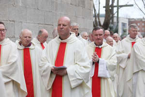 24/2/2107 Connell Funeral. Archbishops and Cardinals at the Funeral of former Archbishop of Dublin and Primate of Ireland Desmond Connell at the funeral Mass at St Mary's Pro-Cathedral Dublin. Photo: Sam Boal/RollingNews.ie