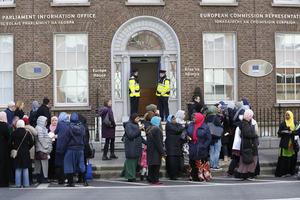 0011 European hijab ban protest_90506273