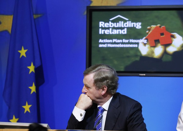 File Photo Fine Gael have a parliamentary party meeting tonight to discuss Enda Kennys future as leader. End. 19/07/2016. Taoiseach and Fine Gael leader Enda Kenny at the launch of the Government's new Housing Action Plan which will help deal with the housing and homeless crisis at the Government Press Centre. Photo RollingNews