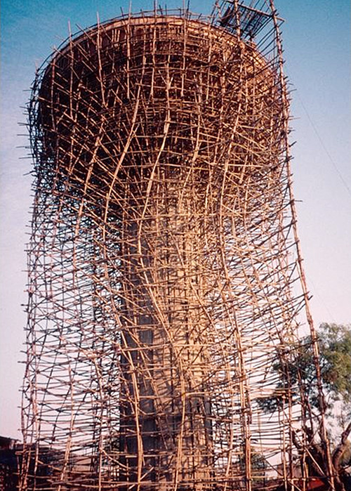 Bamboo scaffolding at the Golden Temple, Amritsar, India