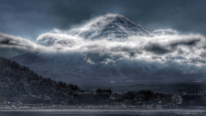 Moody Mount Fuji by Ann Ric