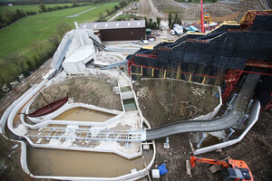 NO REPRO FEE 10/04/2017 Tayto Park Viking Voyage. Construction is well under way at Tayto Park for the exciting new Viking-themed flume ride, The Viking Voyage at The Park, which will open this June. With 1.7 million litres of water, a Viking village, 5 replica Viking ships and 20 life size Vikings, families can expect to feel the splash on the latest addition to Ireland's favourite theme park and zoo. Tayto Park is now open to the public just in time for Easter with The Viking Voyage at the Park opening during June 2017. For the first time, you can also book entry and wristbands online and save money. For more information and opening hours visittaytopark.ie.